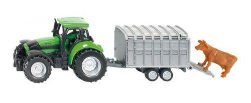 SIKU Deutz Agrotron s přívěsem na přepravu dobytka 1640 cena od 149 Kč