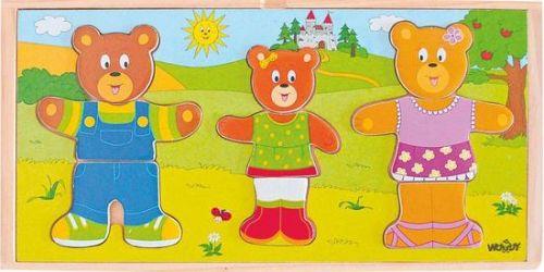 Woody Oblékni si svou medvědí rodinku 90810 cena od 175 Kč