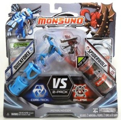 MATTEL Monsuno Zdroj Quickforce vs. Spiderwolf