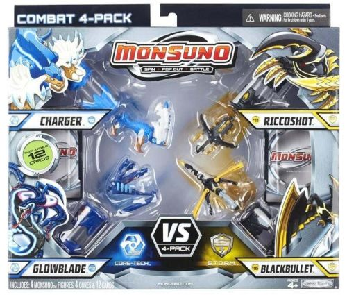 MATTEL Monsuno Charger vs. Riccoshot vs. Glowblade vs. Black Bullet