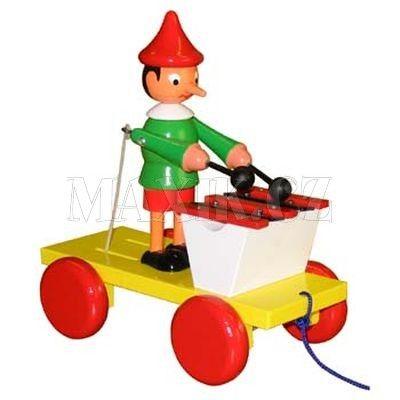 Miva Pinochio s xylofonem tahací 20 cm