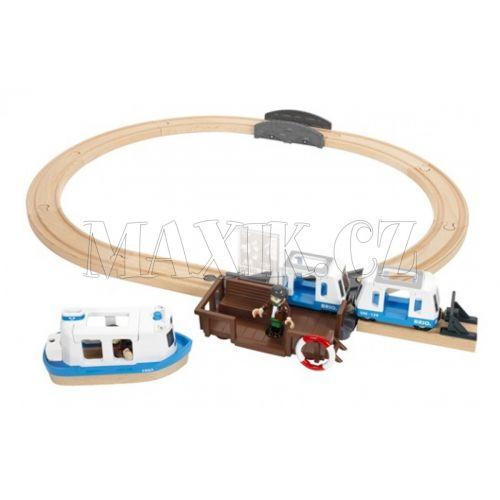 BRIO Vláčkodráha s trajektem