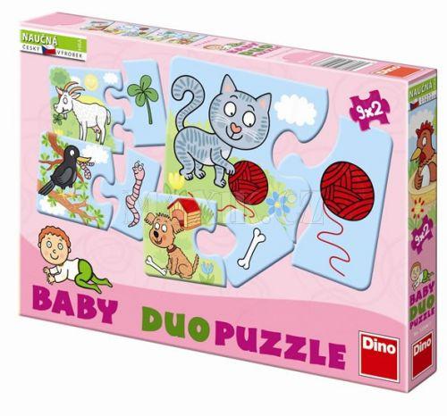 Domácí zvířátka - Baby puzzle duo