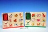 Mikro hračky Vkládačka zvířata s razítky a poduškou cena od 108 Kč