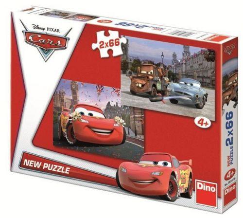 Auta - puzzle 2 motivy v balení 2x66 díl