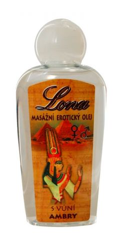 Bione Cosmetics Lona masážní erotický olej s vůní ambry 130 ml