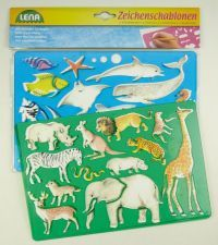 LENA Kreslící šablony Afrika, oceán 65768 cena od 42 Kč