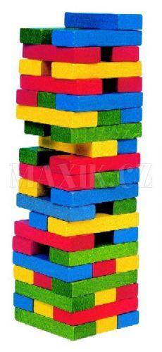 WOODY Dřevěná barevná věž 10210 cena od 275 Kč