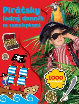 Pirátsky lodný denník so samolepkami cena od 133 Kč
