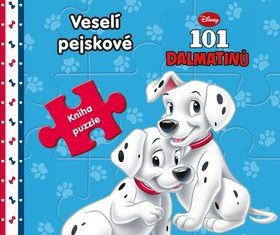 Walt Disney: 101 dalmatinů Veselí pejskové - Kniha puzzle cena od 156 Kč
