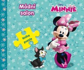Walt Disney: Minnie Módní salon - Kniha puzzle cena od 147 Kč