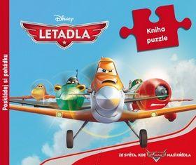 Walt Disney: Letadla - Kamarádi na křídlech - Kniha puzzle cena od 135 Kč