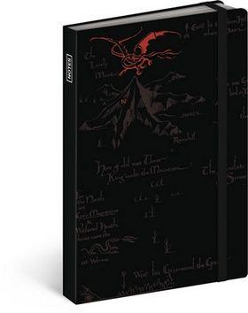 Hobbit černá, notes, 10,5 x 15,8 cm cena od 107 Kč