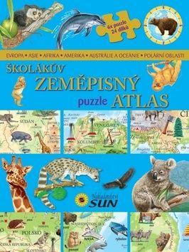 Schwarzová Karolína: Školákův zeměpisný puzzle atlas cena od 194 Kč