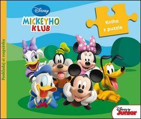 Mickeyho klub Kniha s puzzle cena od 170 Kč