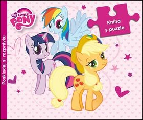 My Little Pony kniha s puzzle cena od 153 Kč