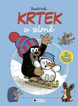 Zdeněk Miler: KRTEK v zimě - 5x puzzle cena od 271 Kč