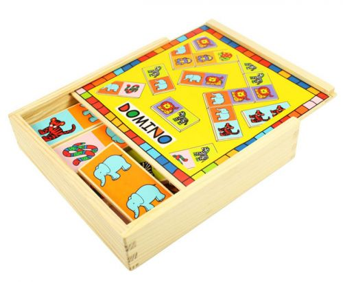 Bigjigs Dřevěné domino se zvířátky cena od 0 Kč