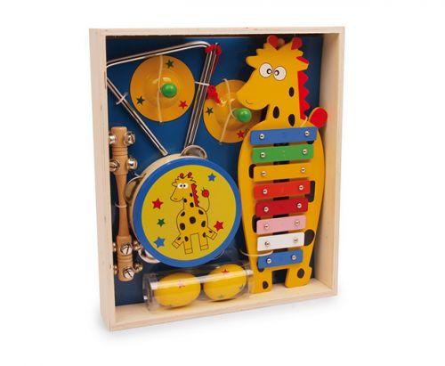 RaKonrad Dřevěný hudební set Žirafa cena od 1099 Kč