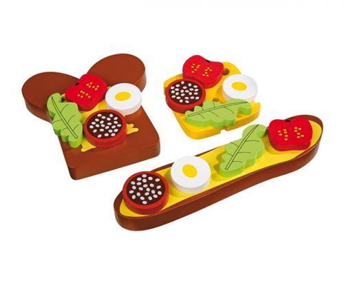 RaKonrad Dřevěný obložený chleba