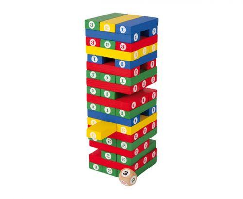 RaKonrad Dřevěná barevná hra Jenga cena od 329 Kč