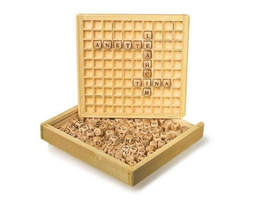 RaKonrad Dřevěná hra Scrabble