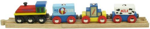 Bigjigs Vlak se zbožím cena od 319 Kč