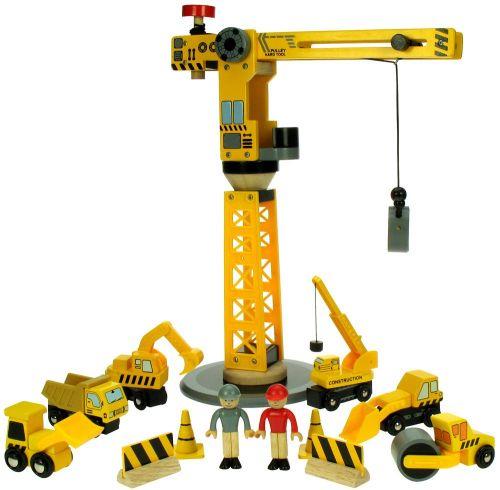 Bigjigs Jeřáb a stavební stroje cena od 1099 Kč