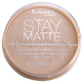 Rimmel Stay Matte pudr odstín 003 Peach Glow (Long Lasting Pressed Powder) 14 g