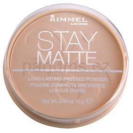 Rimmel Stay Matte pudr odstín 005 Silky Beige (Long Lasting Pressed Powder) 14 g