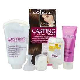 L'Oréal Paris Casting Creme Gloss barva na vlasy odstín 400 Dark Brown 4 pcs