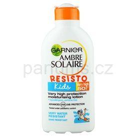 Garnier Ambre Solaire Resisto Kids ochranné mléko pro děti SPF 50+ (Very High Protection Moisturizing Lotion) 200 ml