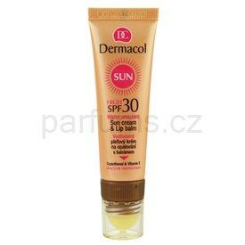 Dermacol Sun Water Resistant pleťový krém na opalování s balzámem na rty SPF 30 (Water Resistant Sun Cream & Lip Balm) 30 ml