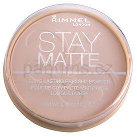 Rimmel Stay Matte pudr odstín 002 Pink Blossom (Long Lasting Pressed Powder) 14 g