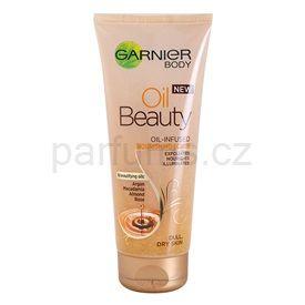 Garnier Oil Beauty vyživující olejový tělový peeling pro suchou pokožku (Oil-Infused Nourishing Scrub) 200 ml