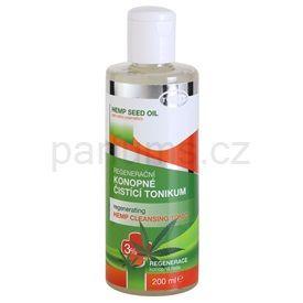 Topvet Hemp Seed Oil regenerační konopné čisticí tonikum 3% (Regenerating Hemp Cleansing Tonic) 200 ml