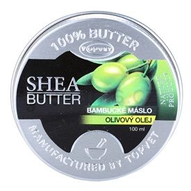 Topvet Shea Butter bambucké máslo olivový olej (Shea Butter) 100 ml
