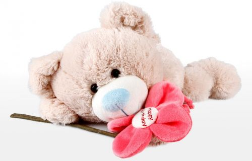 Alltoys Medvěd ležící s kytičkou 30 cm cena od 199 Kč
