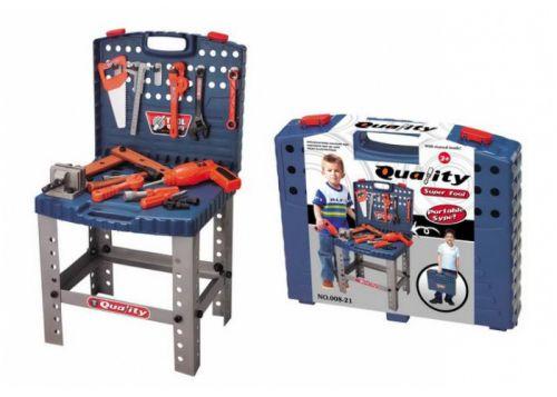 G21 Super Tool Dětské nářadí kufřík a pracovní stůl cena od 399 Kč