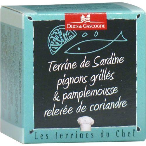 Ducs de Gascogne Terina ze sardinek s opekanymi piniovými oříšky, grapefruitem a koriandrem 65 g cena od 69 Kč
