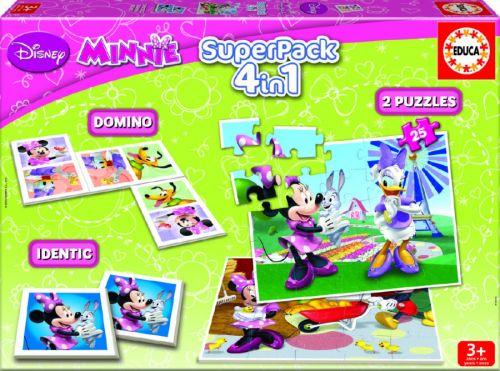 Alltoys 4v1 domino, pexeso, 2x puzzle 25 dílků cena od 299 Kč