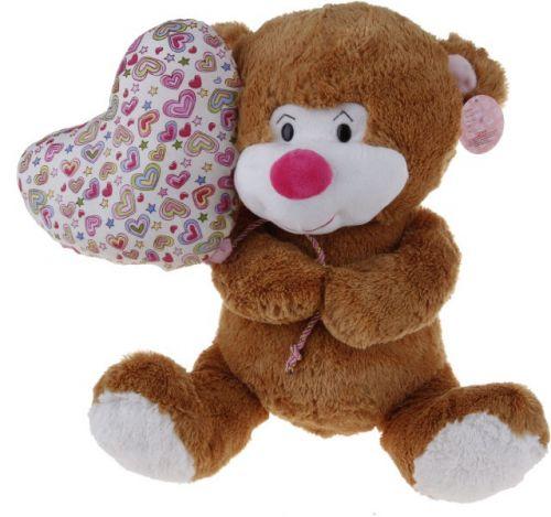 Alltoys Sedící medvídek s balónkem v designu srdíčka 38 cm cena od 311 Kč