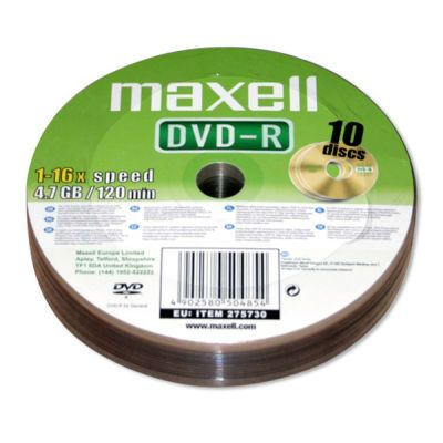Maxell DVD-R 4,7 GB 10 ks