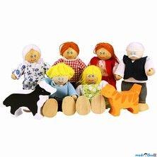 Bigjigs Toys Rodinka se zvířátky 8 ks