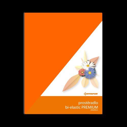 VITAPUR PREMIUM SOFT oranžové prostěradlo