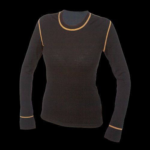 Woolife Merino Black and Orange triko