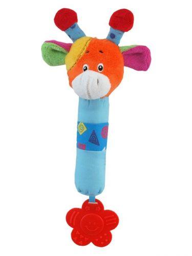 Baby Mix plyšová hračka s chrastítkem Žirafka