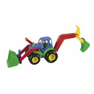 Mochtoys Traktor s radlicí a rypadlem cena od 160 Kč
