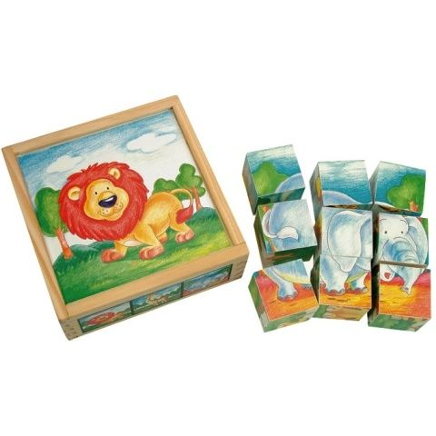 Obráz. kostky-Divoká zvíř, 9 ks cena od 101 Kč