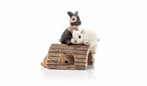 Schleich Zvířátko mláďata králíků hrající si cena od 107 Kč